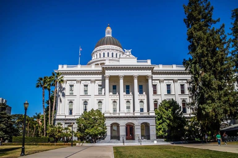 The California state capitol showing changes to privacy rules for the CCPA
