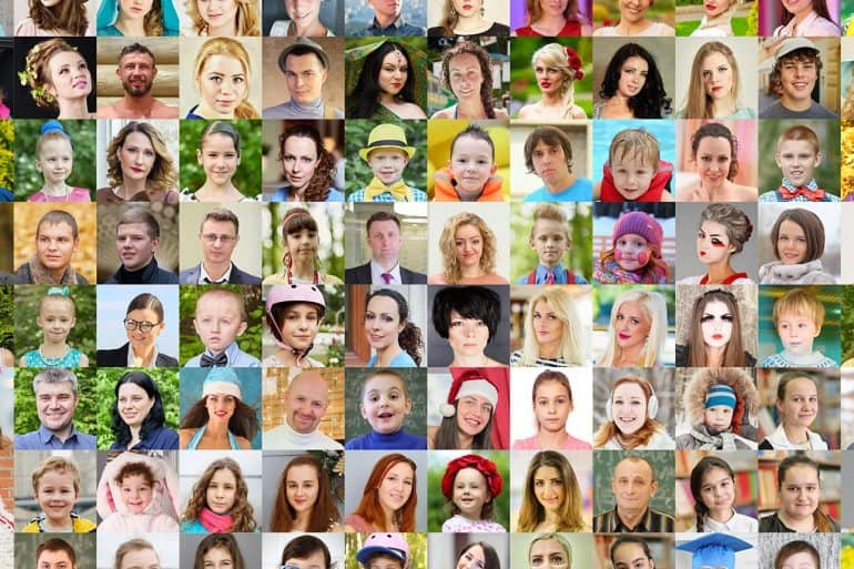 Photos of children and adults showing the concerns raised over the new facial recognition tool for law enforcement