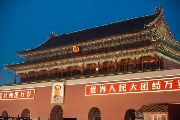 Tiananmen Square in Beijing China showing government censorship on social media users