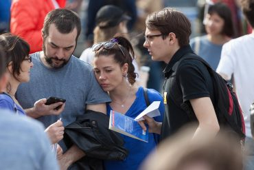 A rally against blocking the Telegram app showing Russia's efforts to crackdown on the darknet and censorship-resistant technologies
