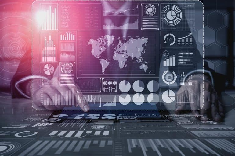 Graphic interface shows essential cybersecurity trends