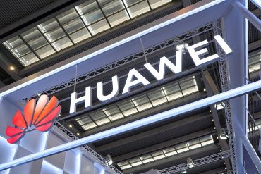 Huawei brand seen at high tech exhibition showing France authorizing Huawei equipment in 5G network