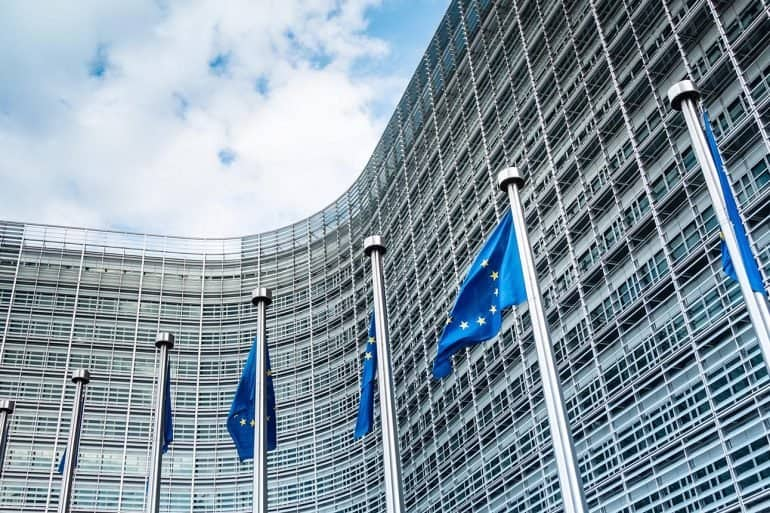 European Commission in Brussels showing release of new digital strategy documents