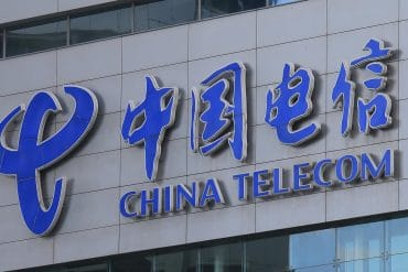 China Telecom company logo showing federal agencies urging FCC to consider China Telecom a national security threat