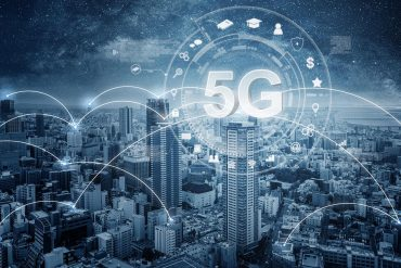 5G virtual icon over city view showing the reasonable security measures required for 5G IoT devices under new California and Oregon IoT security laws