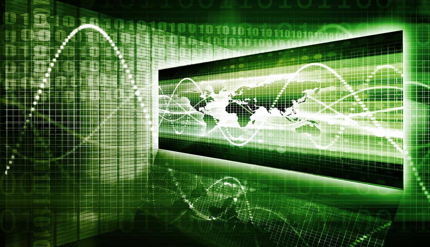 Information security and worldwide data protection screen to secure your enterprise