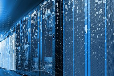 Binary codes over racks in data center showing the potential challenges faced by Europe on their data sharing strategy
