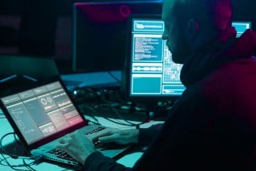 Russian hackers performing cyber attack showing NSA cybersecurity advisory
