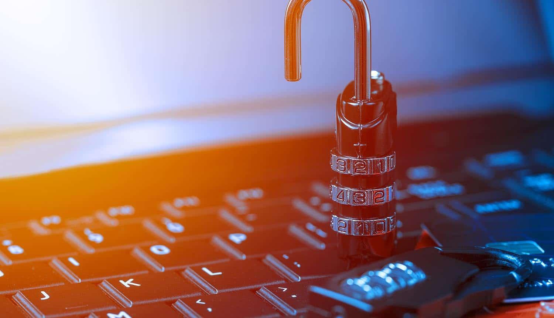 Open padlock show failing website security
