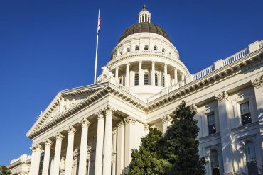 State capitol building in California showing how CCPA will address arbitration and class action waiver clauses in class action lawsuits