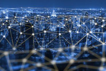 Communication and internet network connecting IoT devices showing critical security flaws