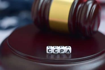Gavel with CCPA acronym showing most companies are still not prepared for CCPA enforcement