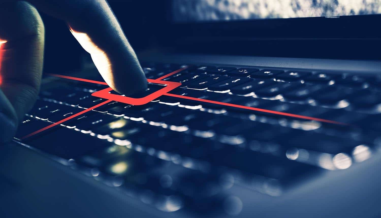 Finger on keyboard showing SAP bug