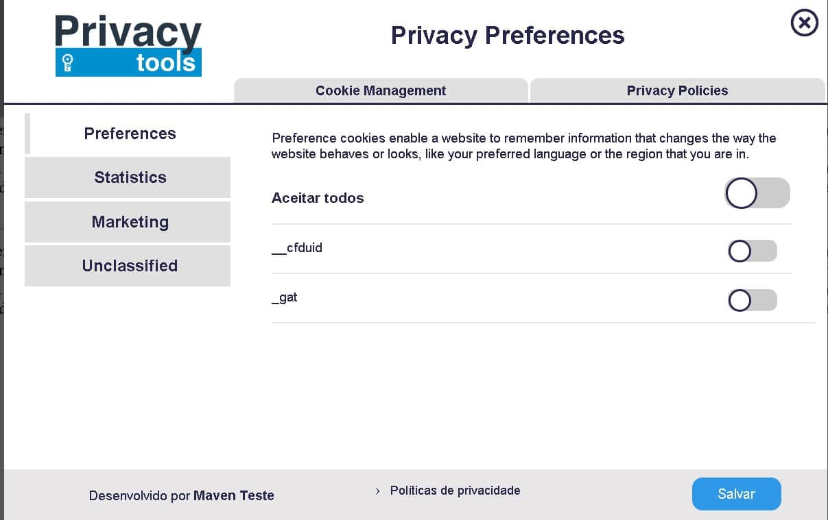 PrivacyTools Privacy Management Platform