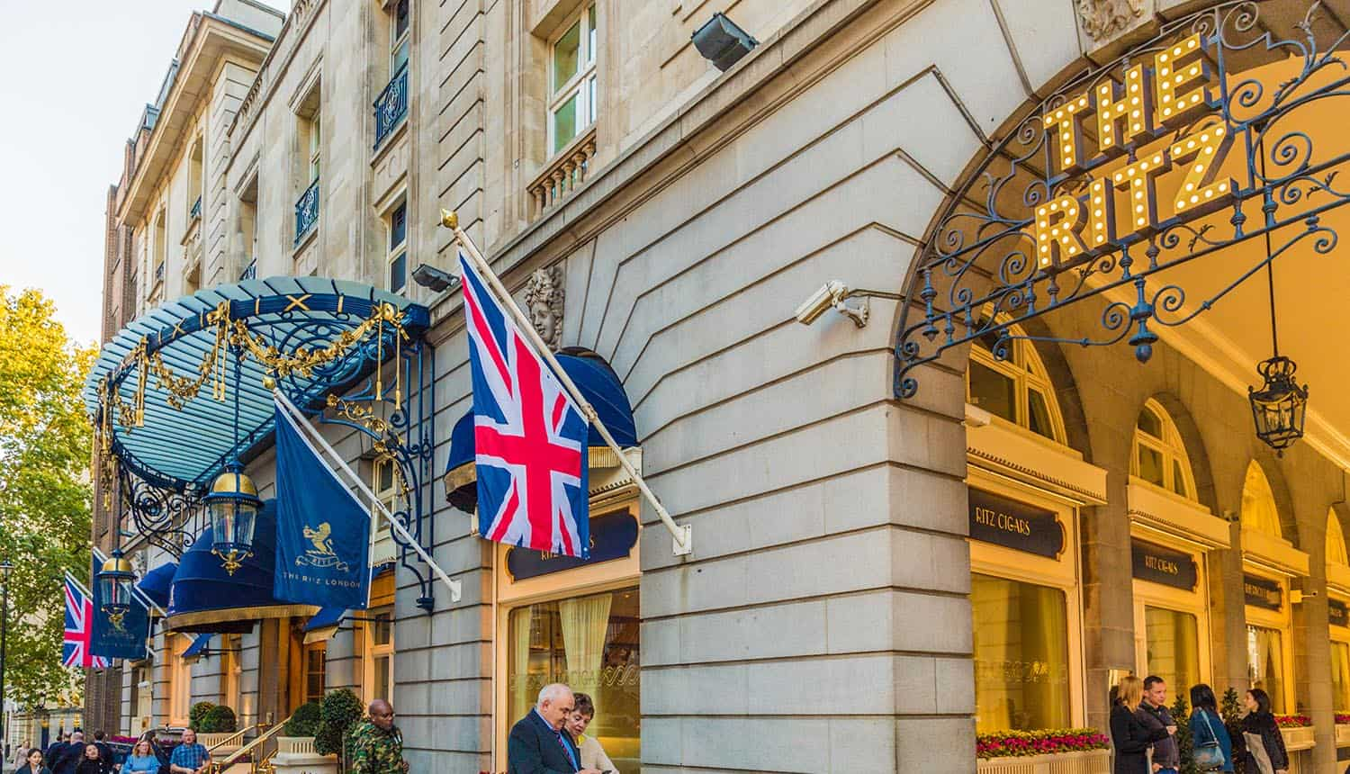 Ritz hotel in London showing data breach that allowed credit card fraud