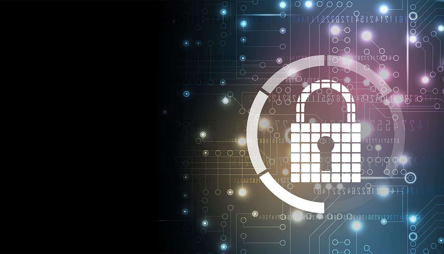 Lock against digital background showing need for cybersecurity investments