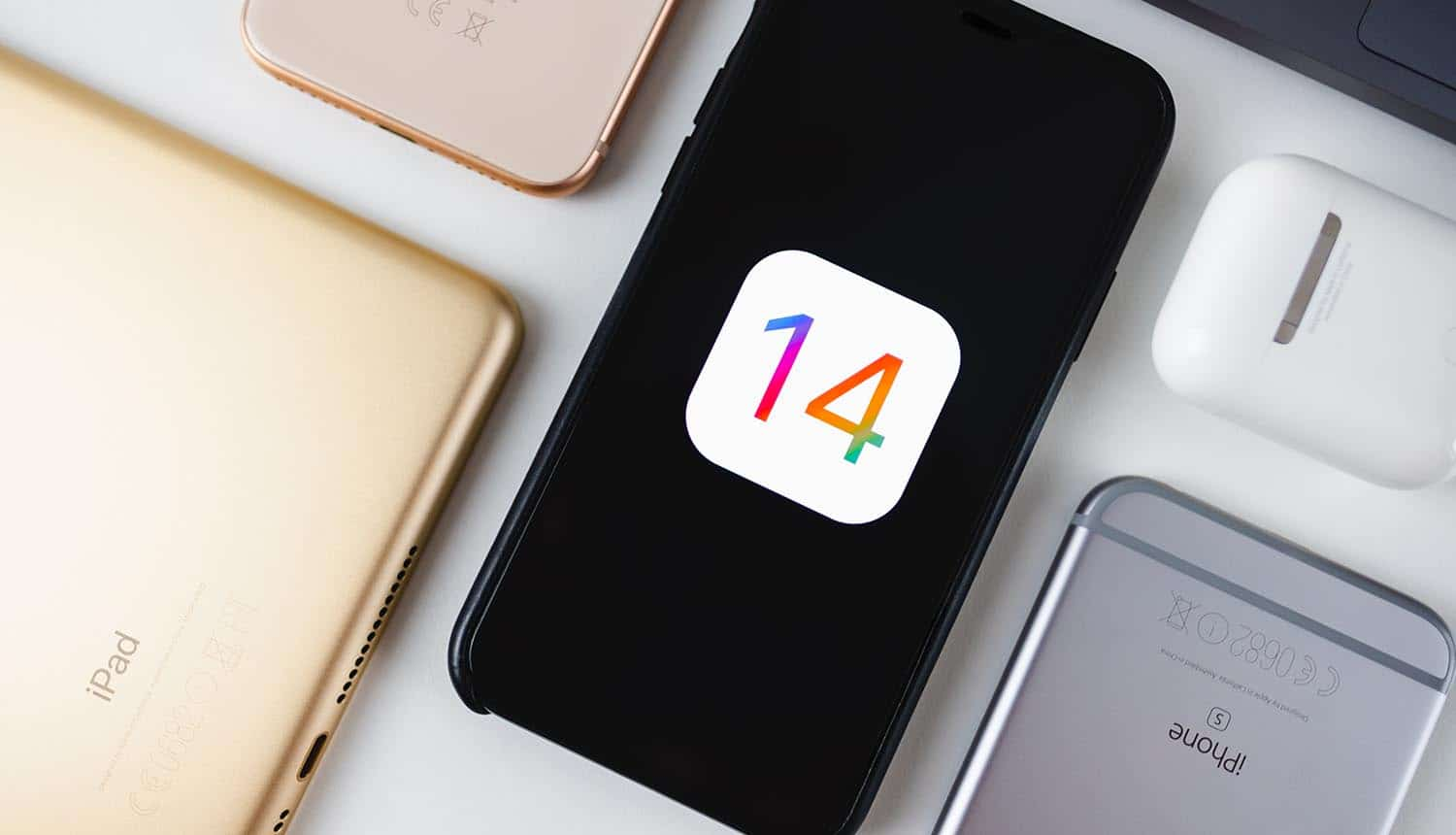 iPhone with iOS 14 logo on the screen showing new user consent requirements' impact on online ads