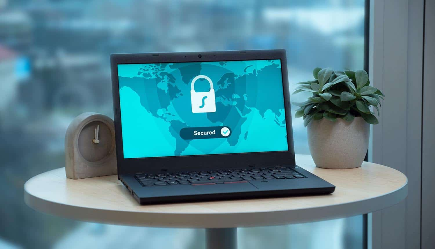 Laptop with lock icon