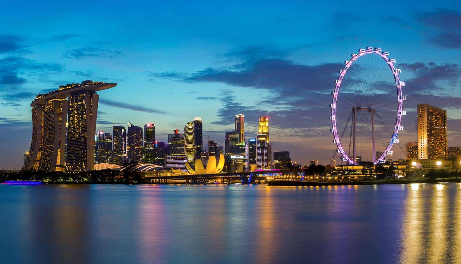 Singapore skyline showing plans for facial verification for national digital ID