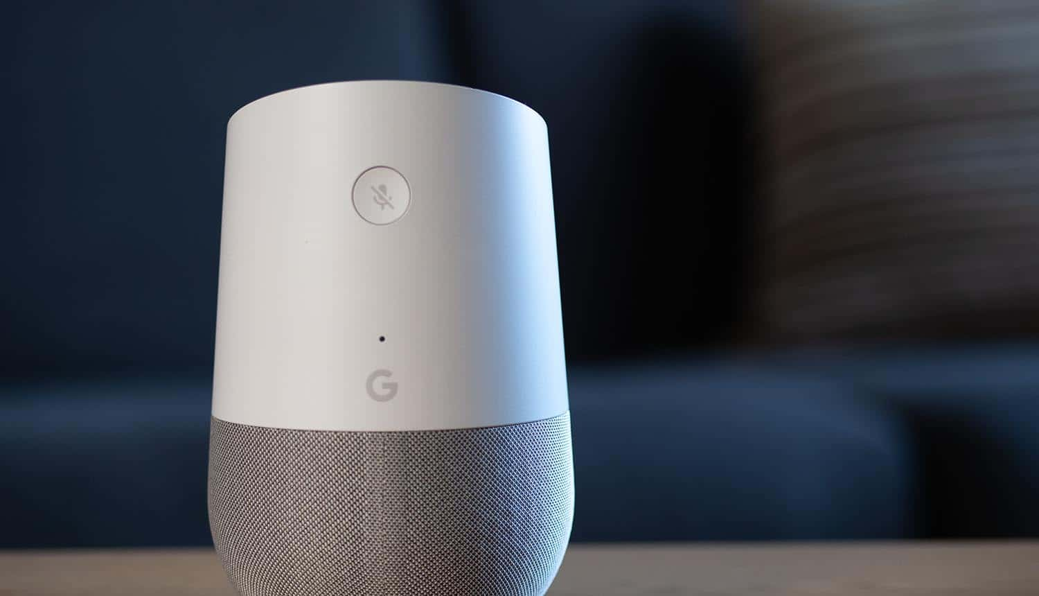 Google Home smart speaker in home environment