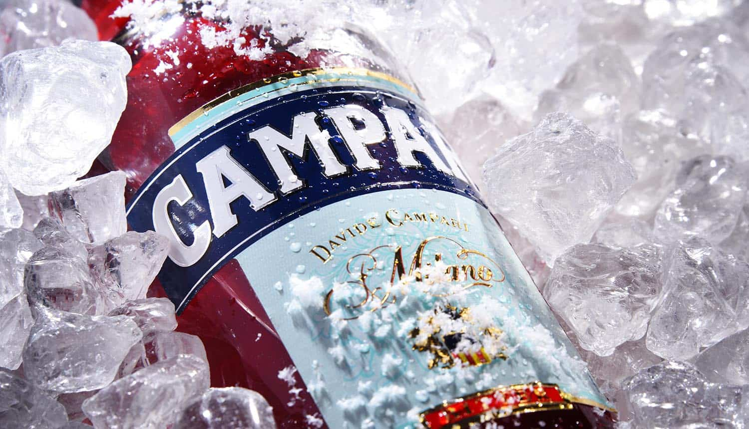 Bottle of Campari showing ransomware attack with Facebook Ads that adds pressure