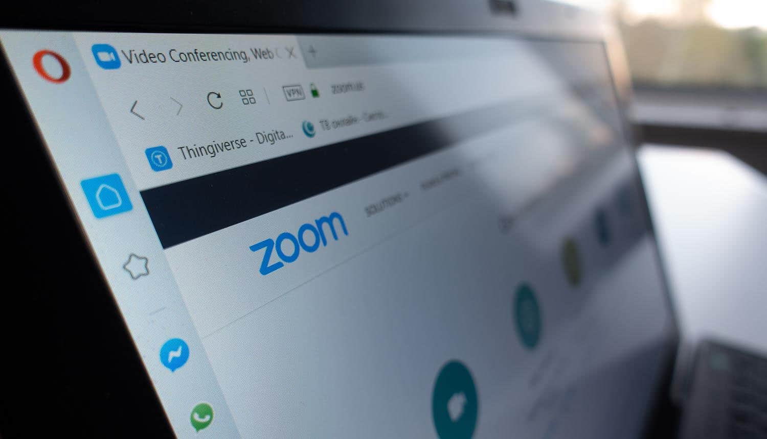 Zoom website showing FTC enforcement on security practices