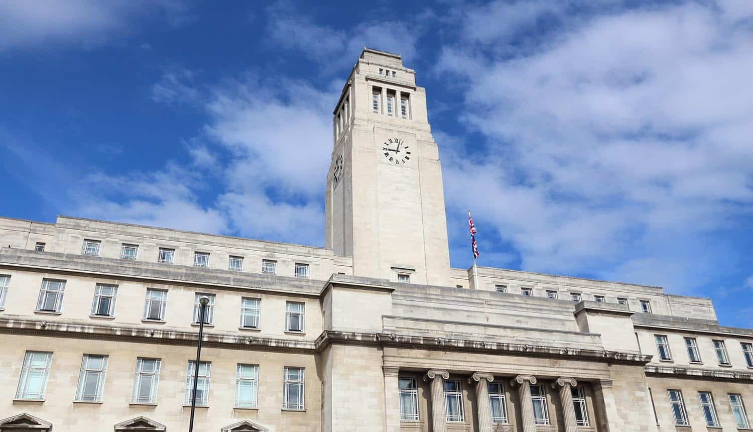 Parkinson Building of the University of Leeds showing threat of ransomware on UK universities