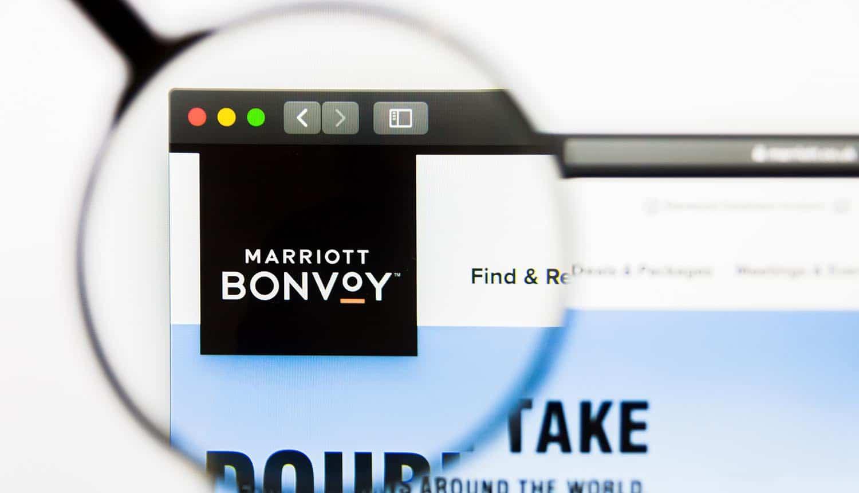 Marriott website homepage showing UK ICO GDPR fine for Marriott data breach