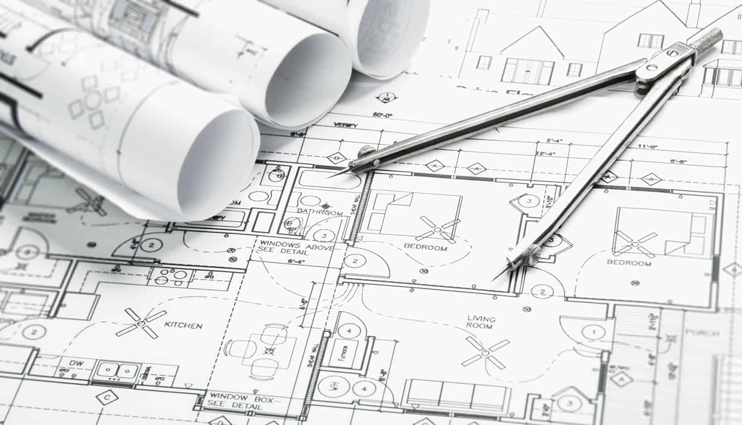 Construction blueprints showing leaked security blueprints due to ransomware attack