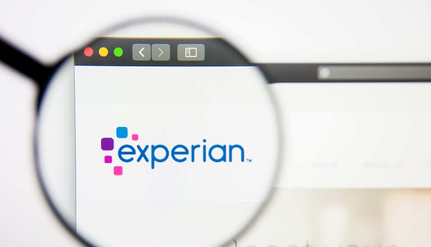 Experian website homepage showing action by UK ICO against data broking