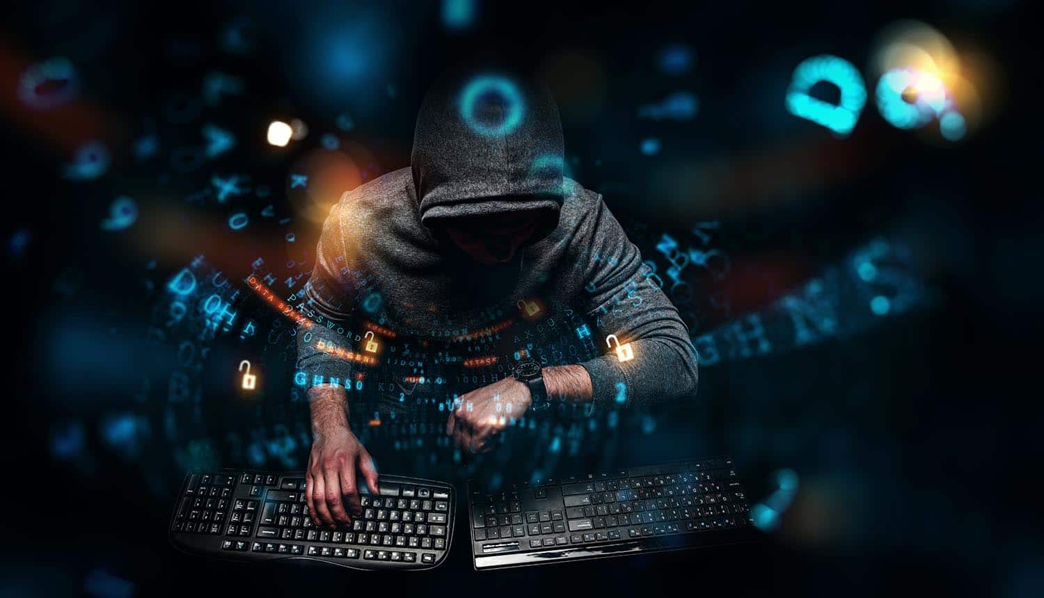 Nation state hacker working on security breach