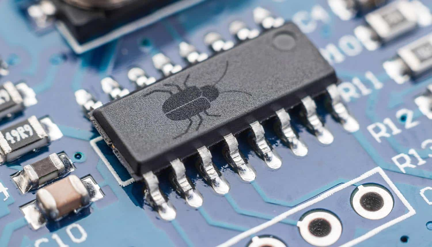 Bug on a chip showing vulnerabilities in open source libraries used by smart devices