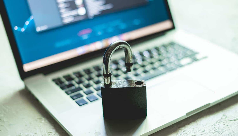 Open lock on laptop