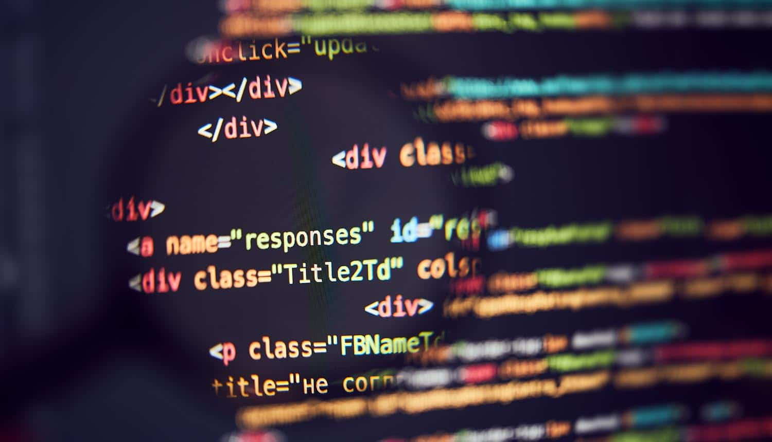 Programming code background showing results of forensic investigation into SolarWinds hackers