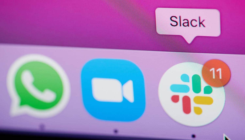 Slack app on smartphone screen showing security concerns