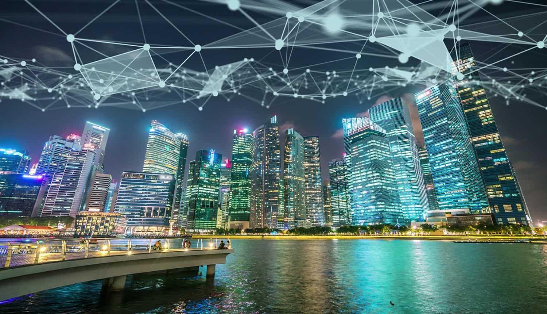 Visual of smart digital city showing Big Tech's privacy push