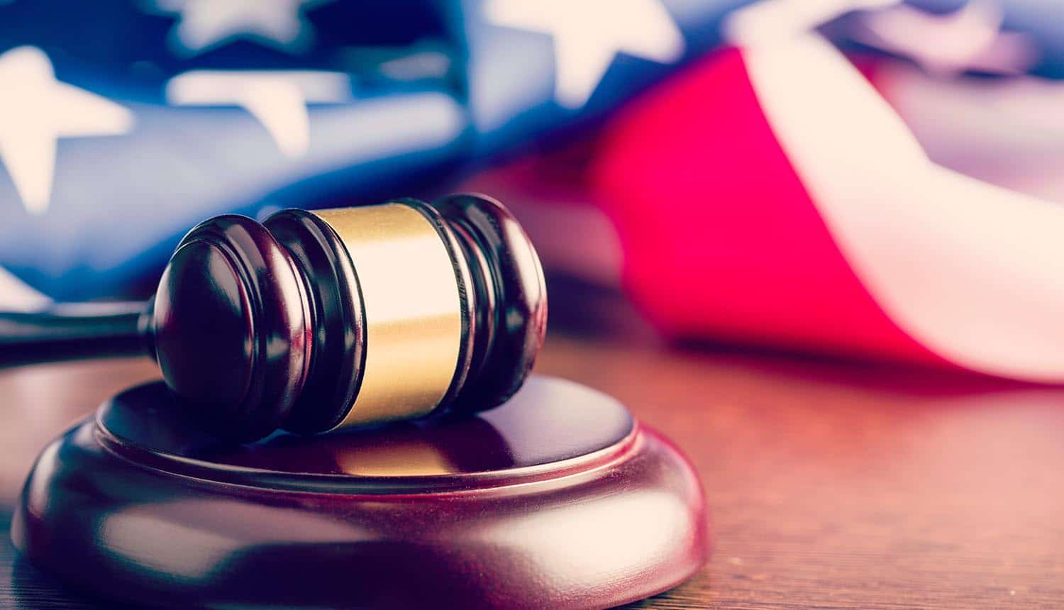Judge gavel and background with U.S. flag showing proposed data privacy bill