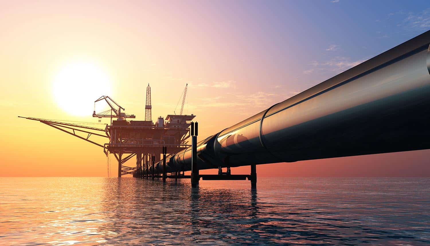 Oil production in the evening sky showing cybersecurity regulations for pipeline industry