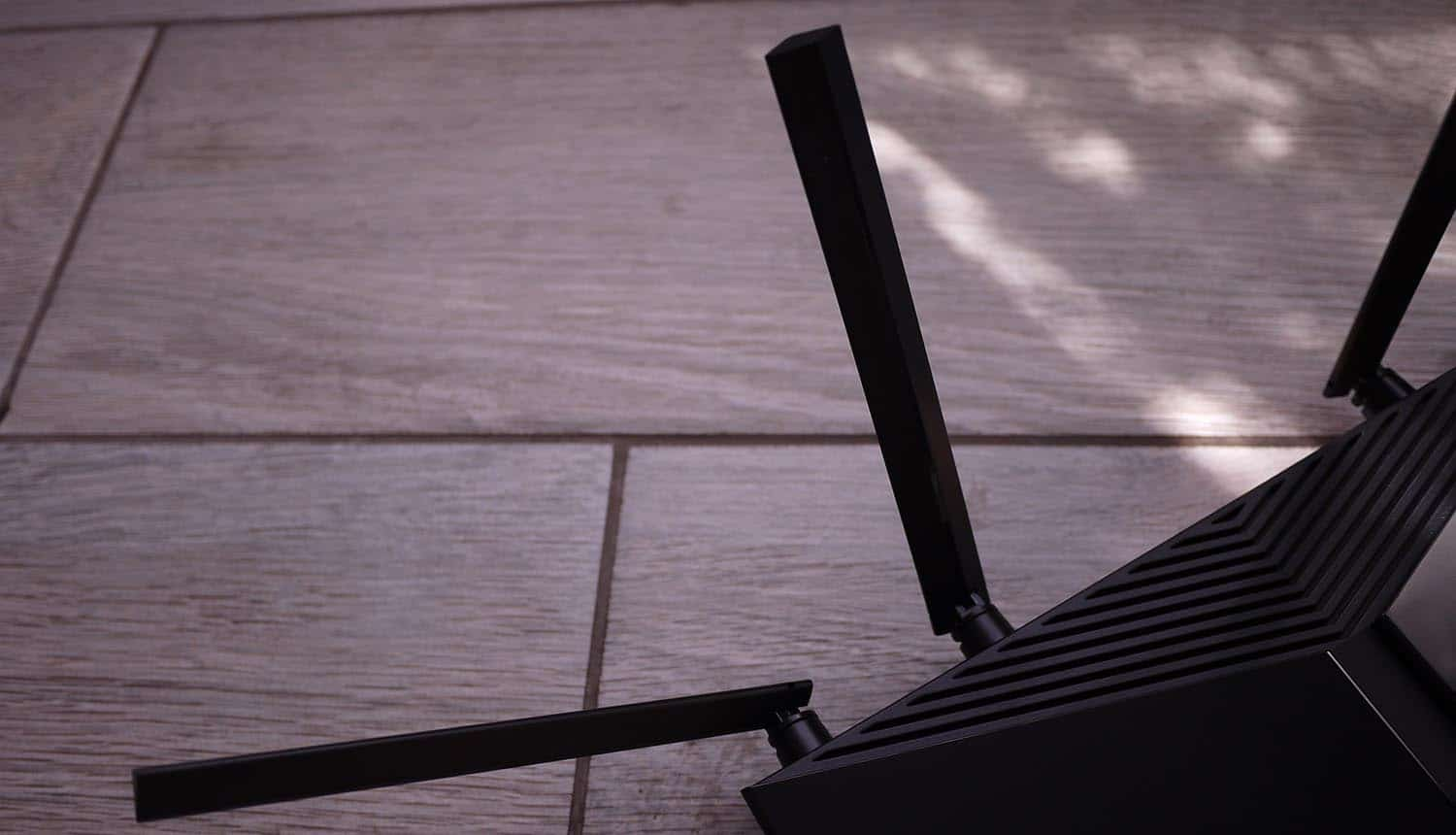 Wi-Fi router device at home showing Wi-Fi security vulnerabilities