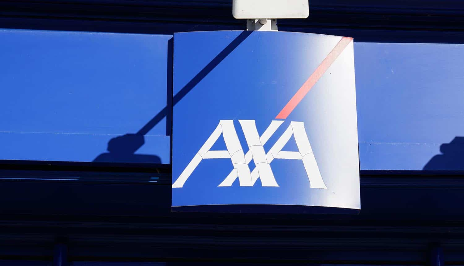 AXA logo on building showing ransomware attack after change in cyber insurance policies