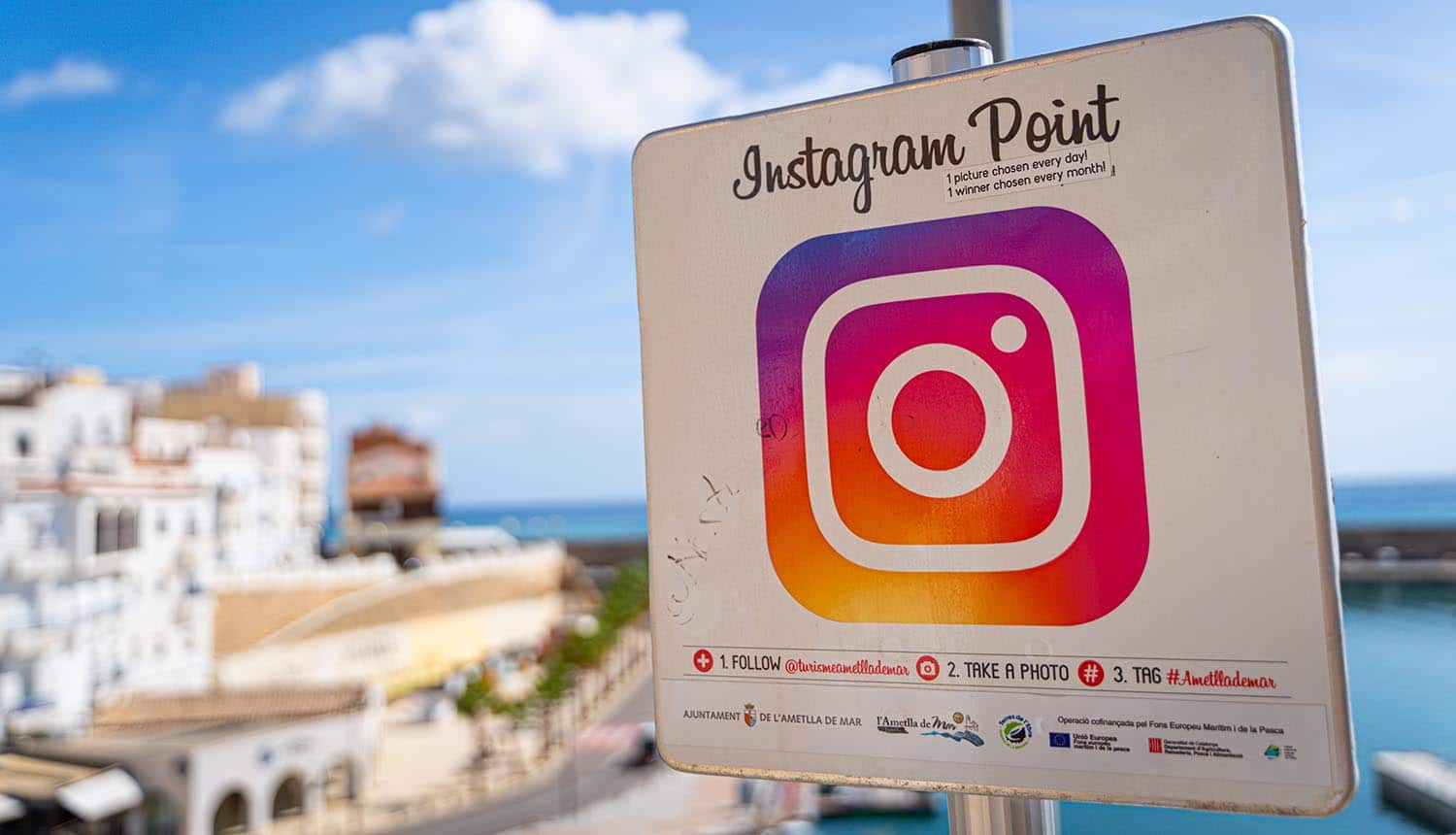 Instagram point with a photogenic view of the port showing data collection for Instagram ads