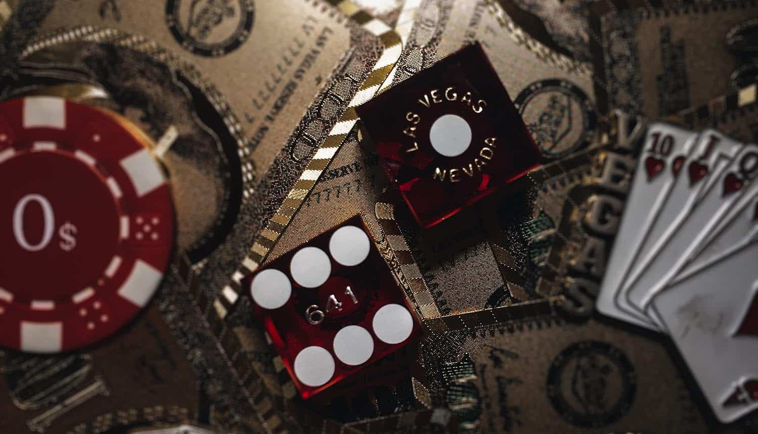 Dices on casino table