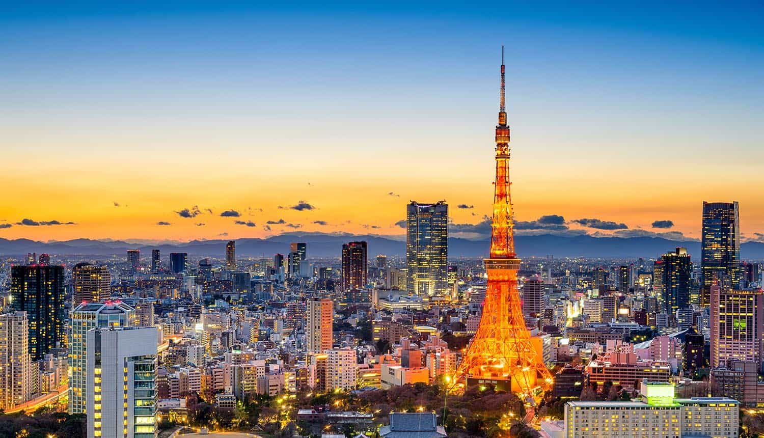 Japan skyline at Tokyo Tower showing cyber attacks on government agencies