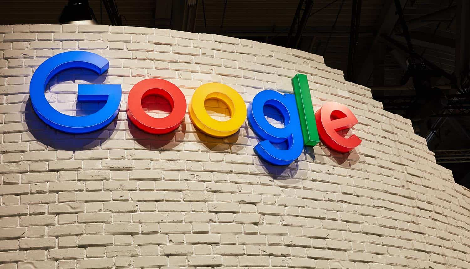 Google logo on a wall showing new timeline for privacy sandbox