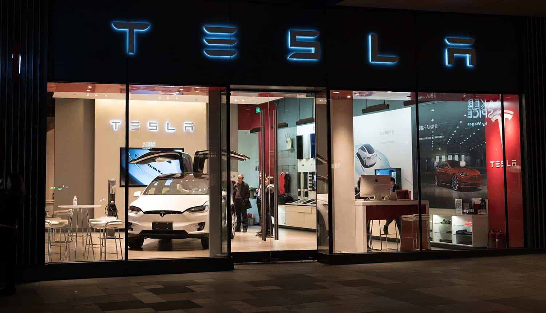 Tesla flagship store in Chengdu China showing smart car data protection regulation