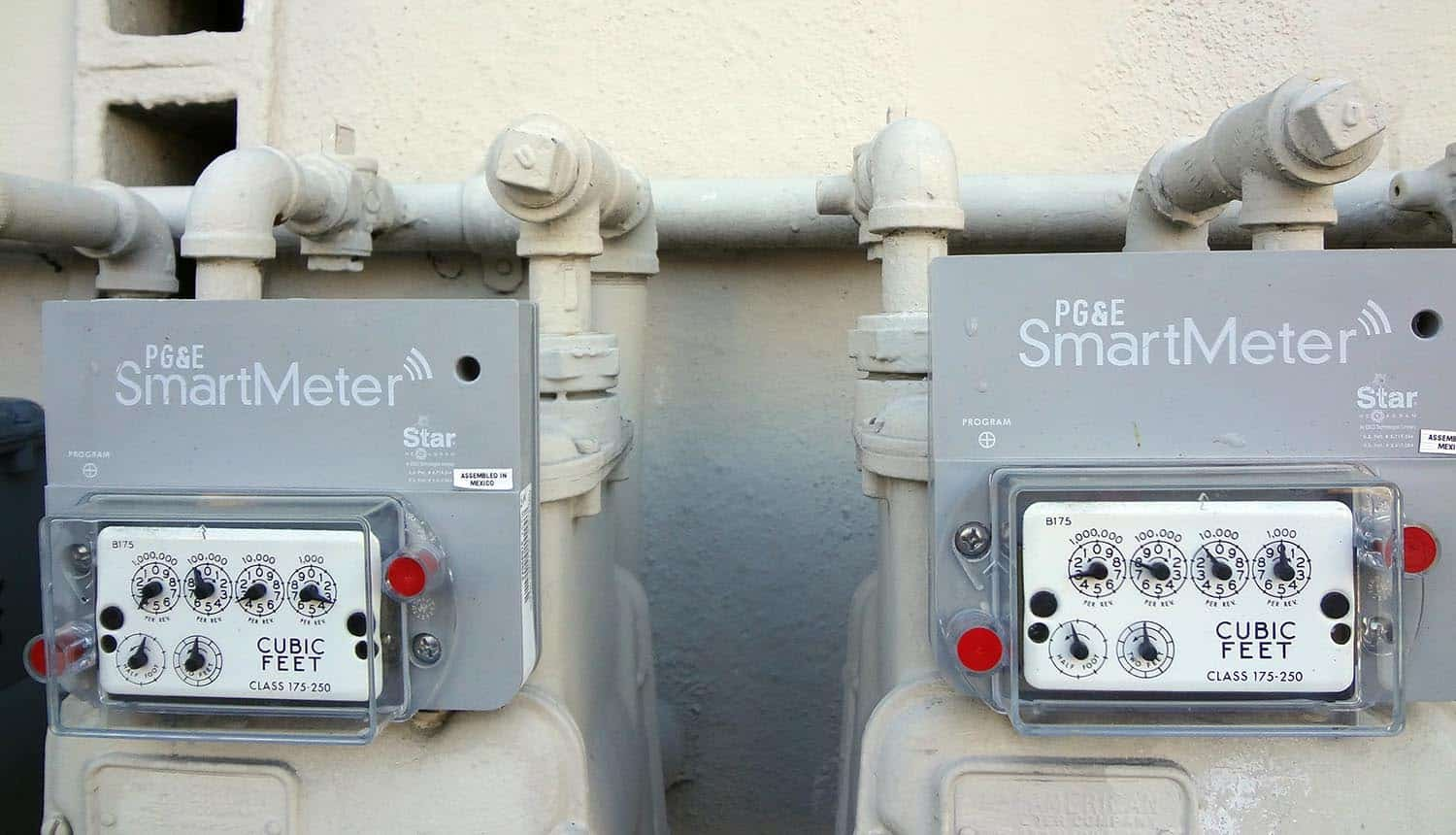 Electricity smart neters on residential building showing connected devices for critical infrastructure