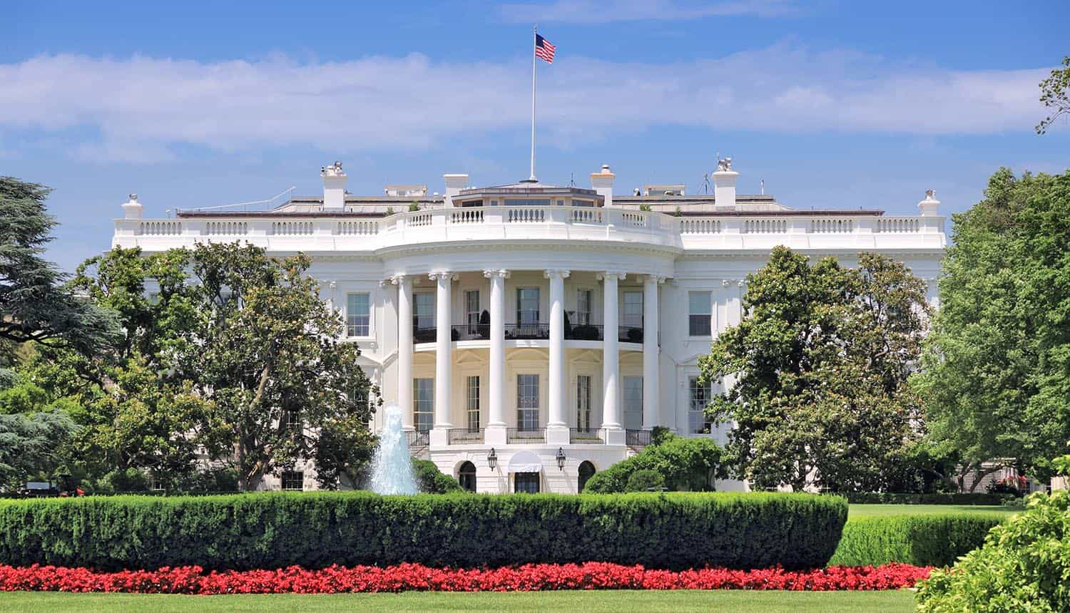 White House in Washington D.C. showing cybersecurity summit on national security