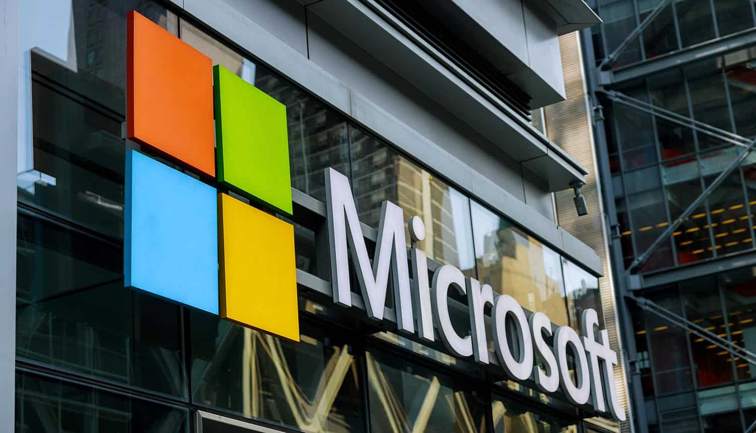 Microsoft store in New York showing authentication bypass vulnerability for Microsoft Exchange Servers