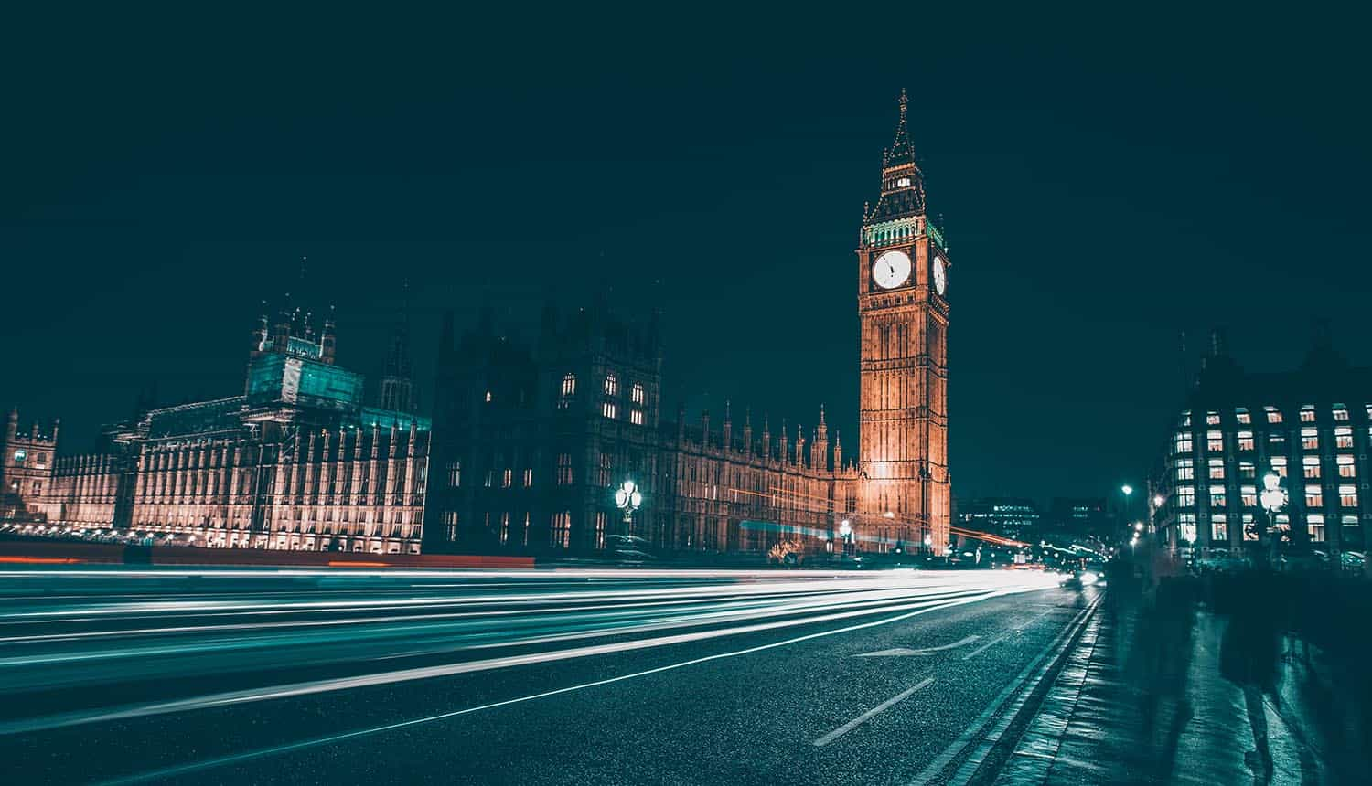 Big Ben and House of Parliament at night in UK showing post-Brexit privacy rules