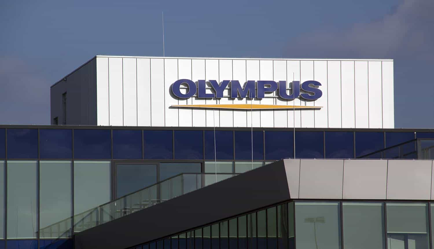 Olympus office building showing cyber attack and ransomware